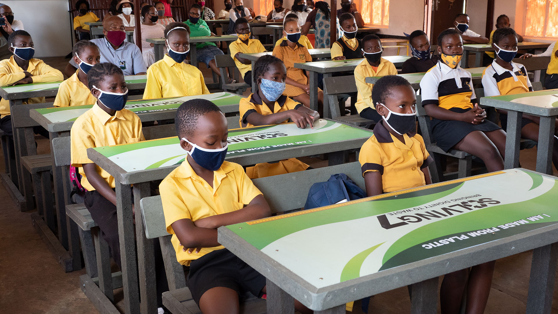 100 desks donated to 2 schools in limpopo